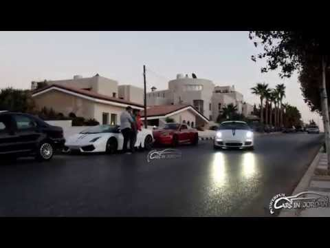 5 Super cars in one place in Amman