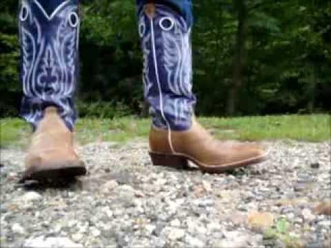 Justin Bent Rail Buckaroo Square Toe Cowboy Boots Youtube