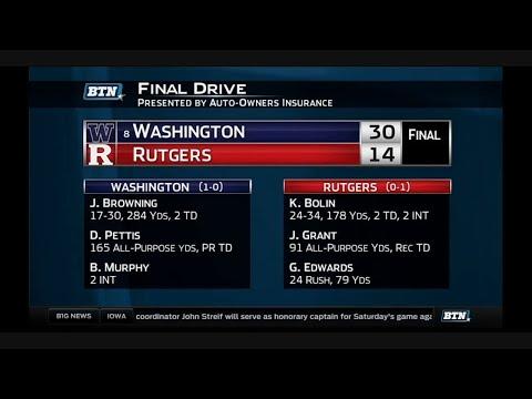 Washington at Rutgers - Football Highlights