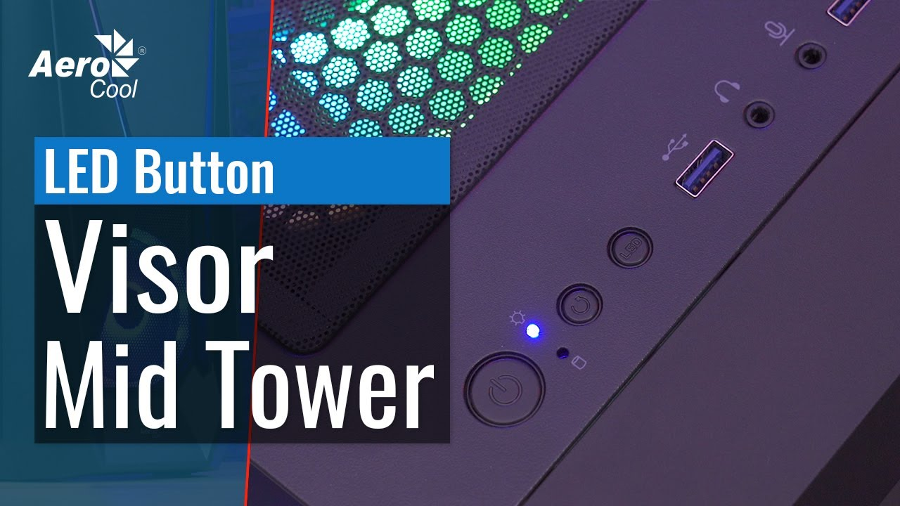 aerocool visor mid tower case how to control the rgb lighting with the pc led button