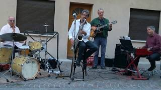 """Poupon Trio + 1 avec """"TAKE FIVE"""" (Dave Brubeck) à Tarascon s/Ariège, 07/08/2017"""