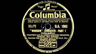 Original Film Soundtrack: Louis Kentner plays Addinsell Warsaw Concerto (1941)
