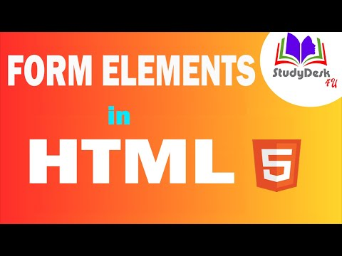 Form Elements In HTML || StudyDesk4U