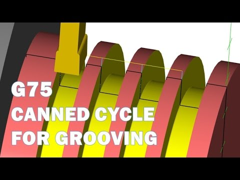 CNC LATHE GROOVING USING G75 CANNED CYCLE - YouTube