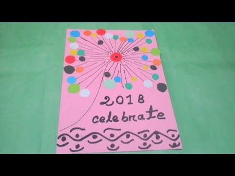 how to make happy new year gift card 2018 easy tutorial