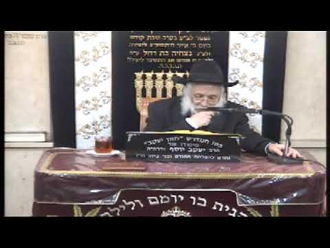 הרב אברהם יונה הלכות ערב פסח  התשע''ט