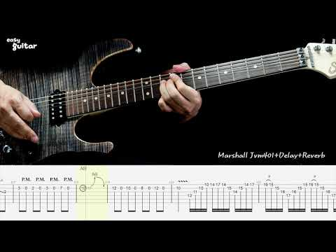 Jerry C - Canon Rock Guitar Lesson with Tab Part.1 (Slow Tempo)