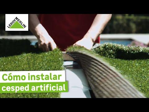 Instalación de césped artificial sobre distintos suelos (Leroy Merlin)