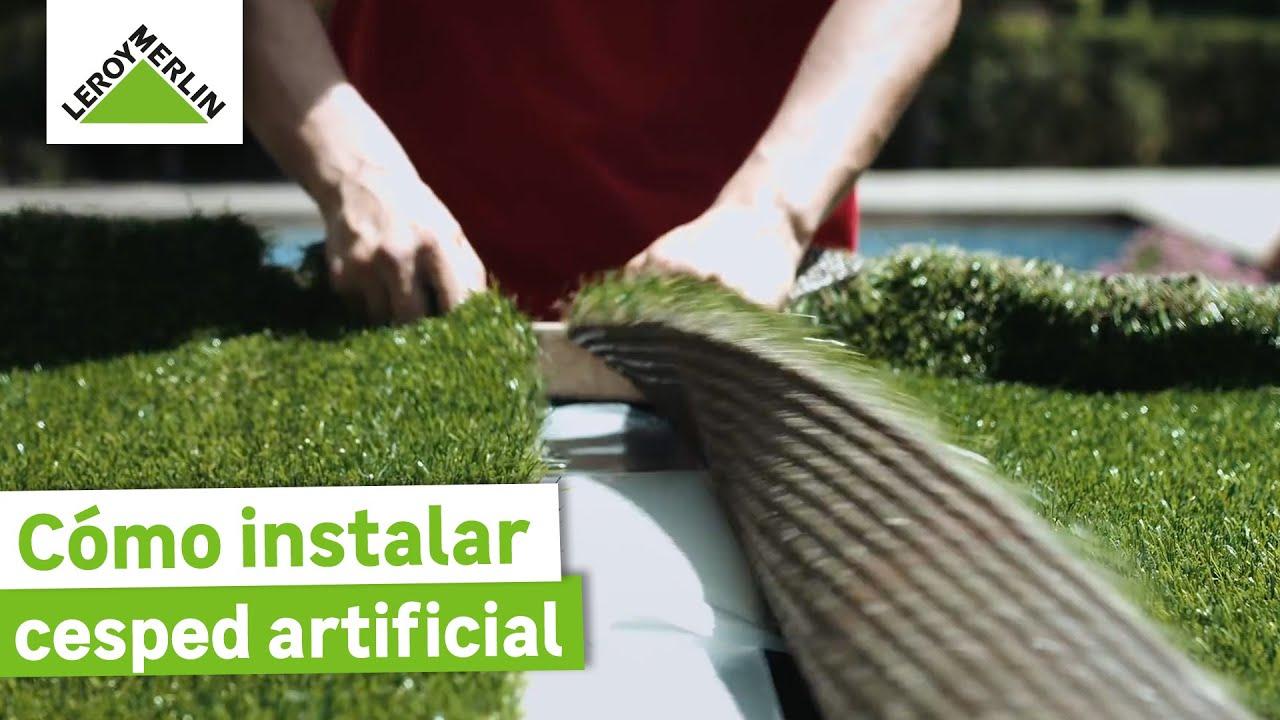Instalación de césped artificial sobre distintos suelos (Leroy ...