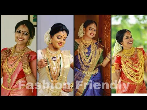 South Indian Bridal jewellery collection/ Gold jewellery designs for kerala bride - Fashion Friendly