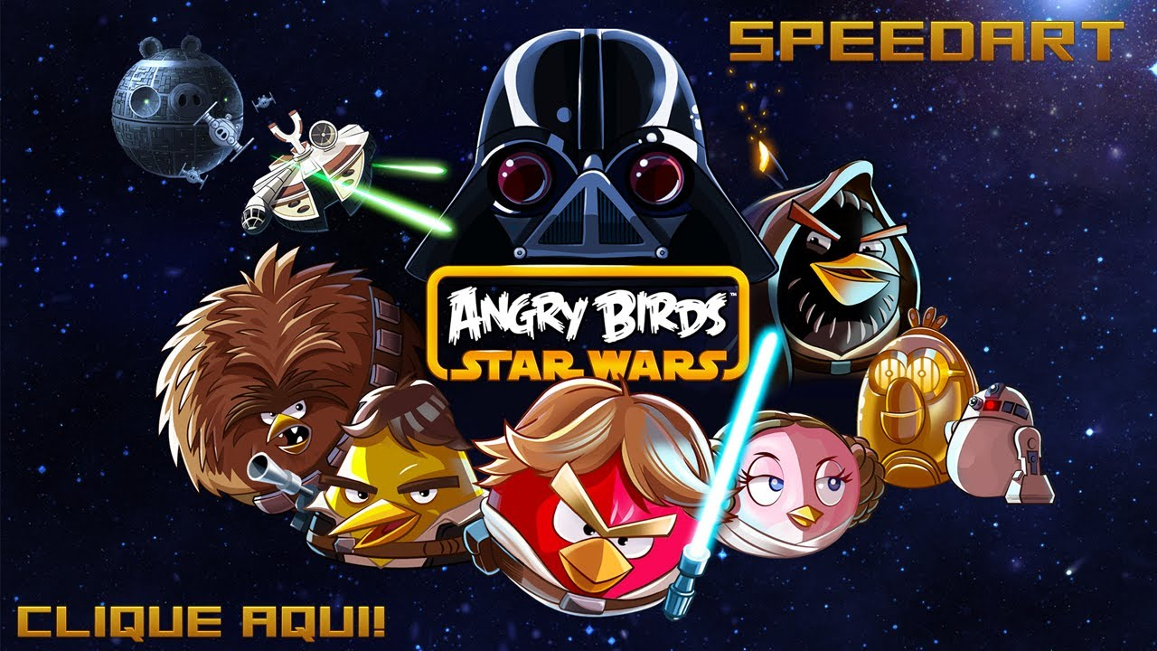 SpeedArt - Angry Birds - Star Wars - YouTube