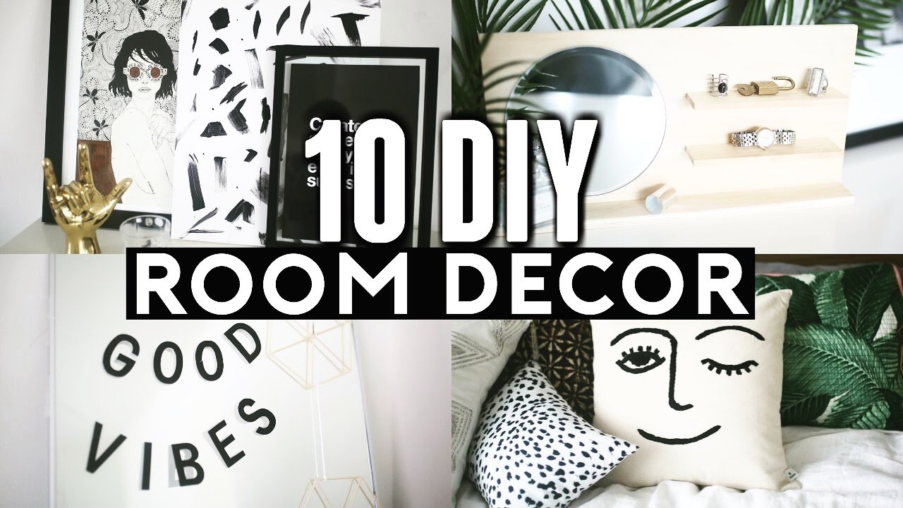 Diy Room Decor 10 Diy Room Decorating Ideas For Teenagers: 10 DIY ROOM DECOR Ideas For 2017! (Tumblr Inspired