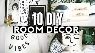 10 DIY ROOM DECOR Ideas for 2017! Minimal & Cheap! ✂️