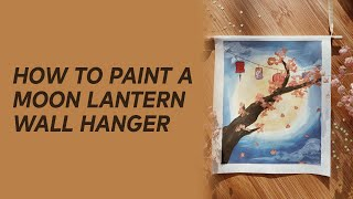 Moon Lantern Wall Art | Moon Fest Box | EM Collective
