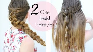 2 Braided Hairstyle Ideas  | Heatless Hairstyles | Braidsandstyles12