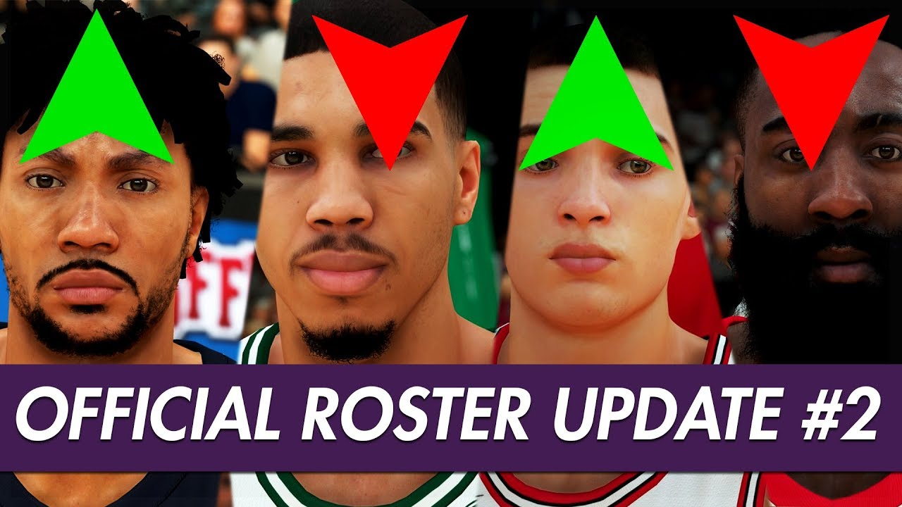 Nba 2k19 Official Roster Ratings Update 2 Derrick Rose Goes Up