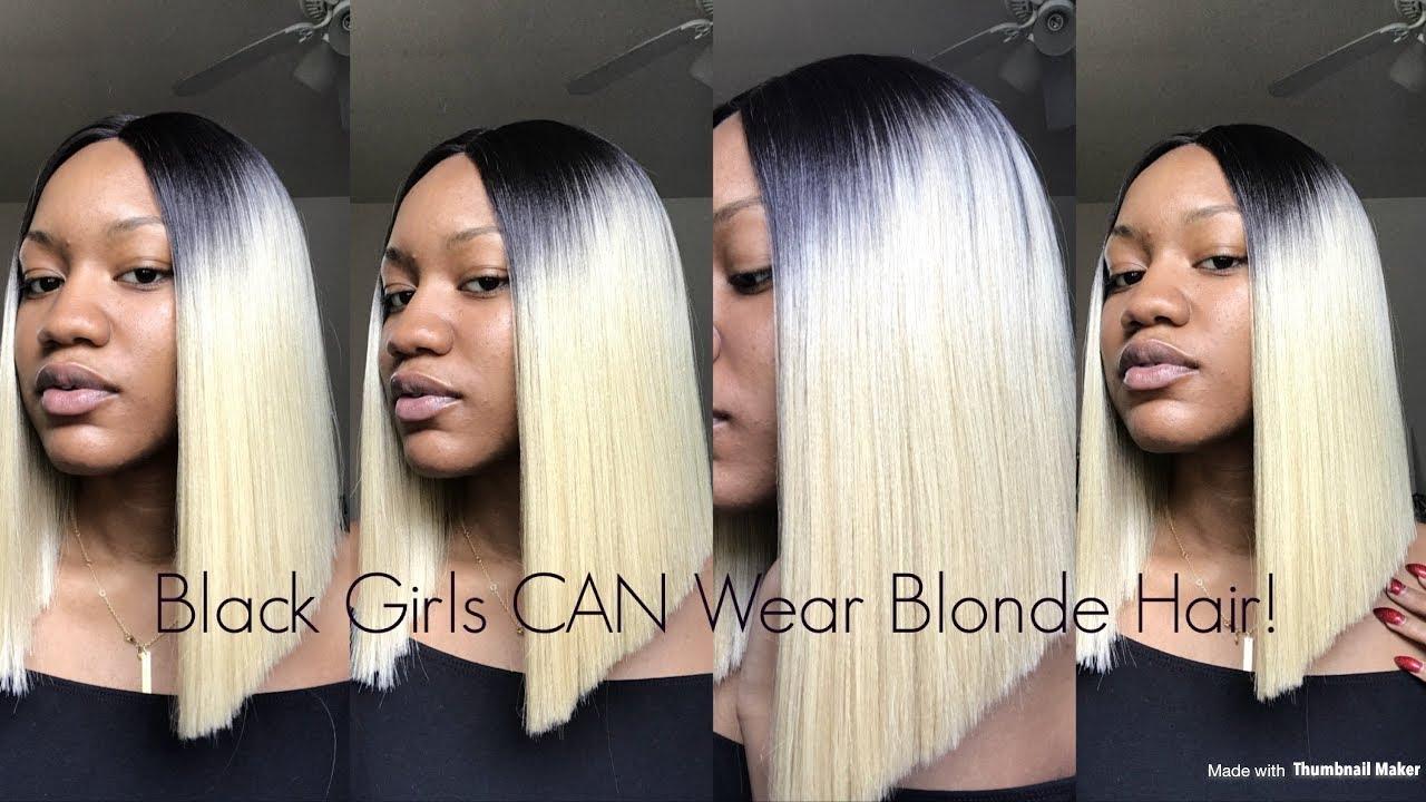 32 613 Platinum Blonde Blunt Cut Bob Youtube