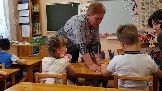 Занятия по грамоте в ДС Антошка, старшая группа. 5 апреля 2018 г.