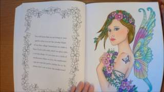 Messages from the Fairies by Doreen Virtue. Illustrated by Norma J Burnell Colouring Book Flipthroug