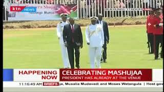 President Kenyatta, Raila shake hands at Bukhungu to the delight of Kenyans | #MashujaaDay2018