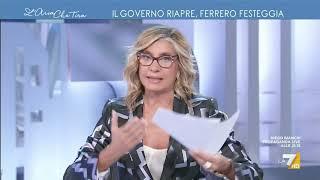 Riaperture, Massimo Ferrero a Myrta Merlino: