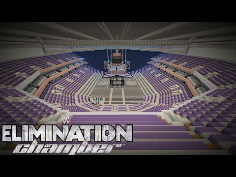 Minecraft WWE ELIMINATION CHAMBER 2017 ARENA/Talking Stick Resort Arena