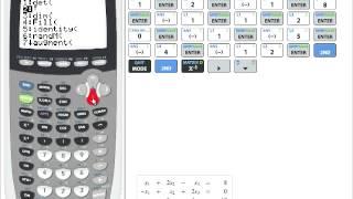 TI 84 plus (TI 83) Linęares Gleichungssystem LGS mit drei Variablen lösen