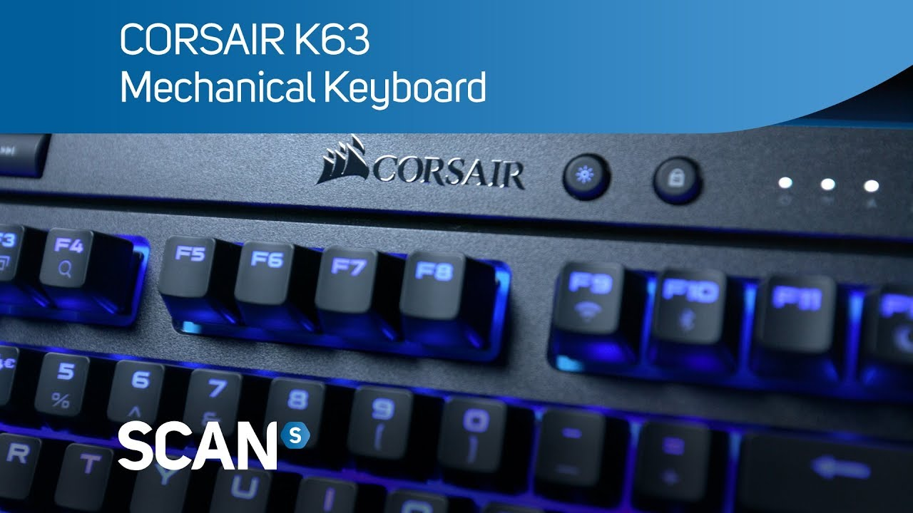 512e5707840 CORSAIR K63 wireless mechanical gaming Keyboard- Overview - YouTube