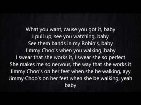 Fetty Wap - Jimmy Choo  (Lyrics on Screen)
