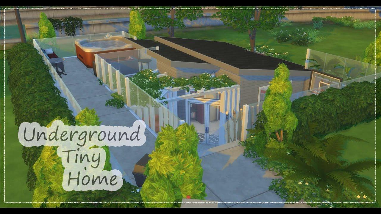Build Underground Home The Sims 4 Speed Build Underground Tiny Home Youtube
