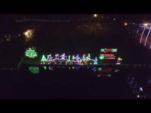 Natchitoches Louisiana Christmas Lights 2015