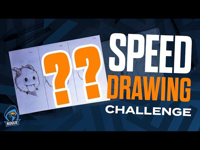SPEED DRAWING CHALLENGE (10 Min/1 Min/10 Sec) with Hans sama