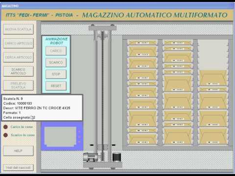 Smart Project Omron 2015, Magazzino automatico multiformato