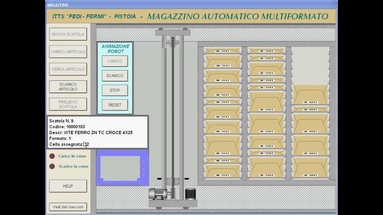 Smart Project Omron 2015, Magazzino automatico multiformato