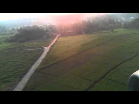 Landing at Supadio airport(Pontianak Indonesia)