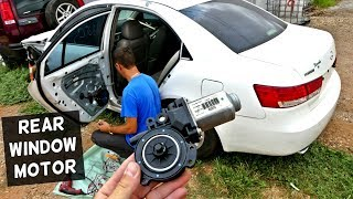 HOW TO REMOVE AND REPLACE REAR WINDOW MOTOR ON HYUNDAI SONATA