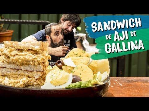 Sándwich de Ají de Gallina con Papas Huancaínas | Cook & Laucha 2x1