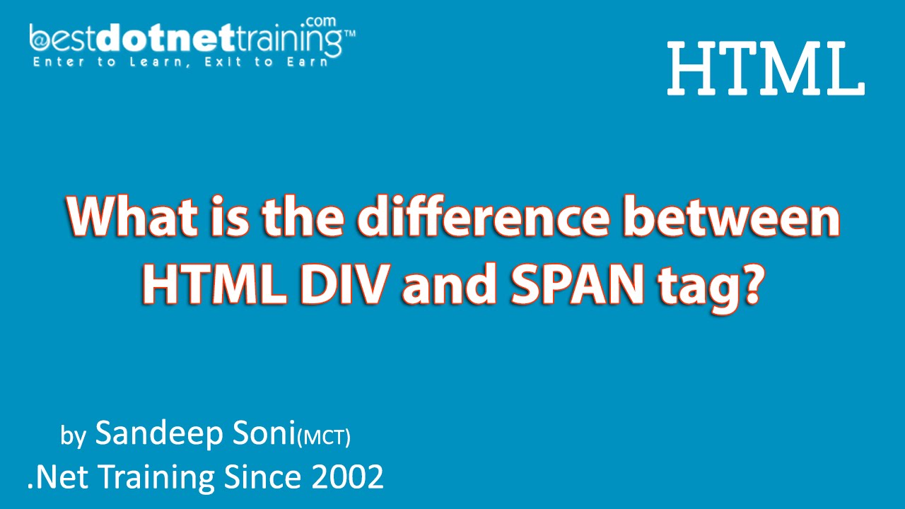 Html tutorial difference between div and span tag youtube - Tag div html ...