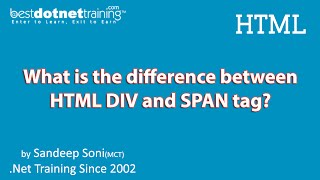 HTML Tutorial - Difference between div and span tag
