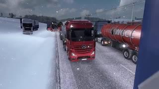 попали в огромную пробку в euro truck simulator 2 мультиплеер етс 2 мп играем на руле