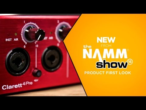 NAMM 2016 - Focusrite Clarett 4Pre Thunderbolt Audio Interface