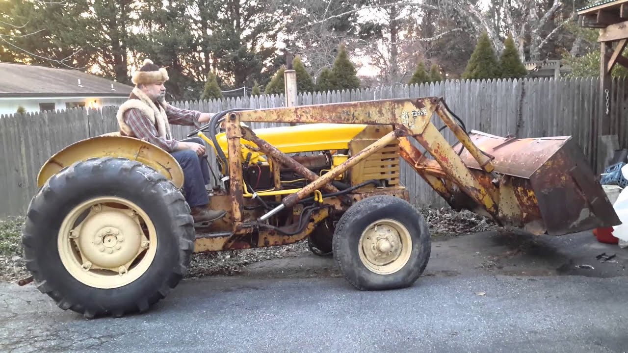 Industrial Ford 2000 Tractor : Ford industrial tractor with loader youtube