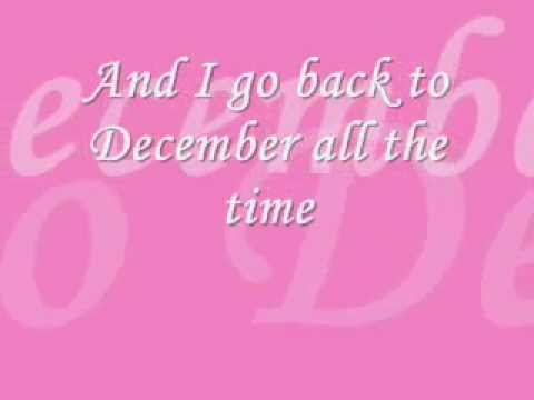 BACK TO DECEMBER LYRICS ^_^