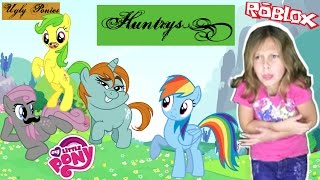 My Little Pony - Ugly Ponies in Roblox! Huntrys Hailey in Ponyville