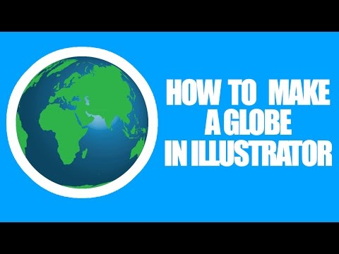 HOW TO MAKE 3D GLOBE/EARTH IN ILLUSTRATOR - TUTORIAL