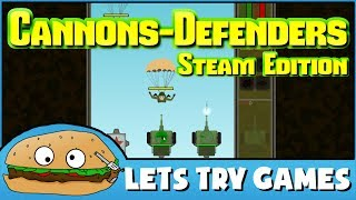 CANNONS-DEFENDERS: Shovelware Edition 🍔 Lets Try Games 🍔