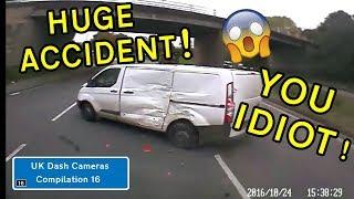 UK Dash Cameras - Compilation 16 - 2018 Bad Drivers, Crashes + Close Calls