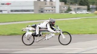 François Gissy Bicycle World Record 207 mph 333 km/h HD new