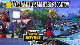 GET FREE TIER | SECRET BATTLE STAR (LOCATION) WEEK 6 SECRET STAR FORTNITE BATTLE GROUND SEASON 4