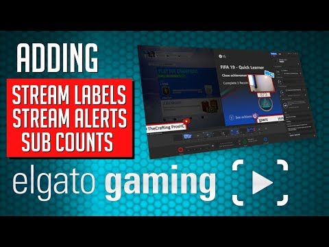 How to Add/Setup Stream Labels, Stream,Alerts and Sub Count's with Elgato